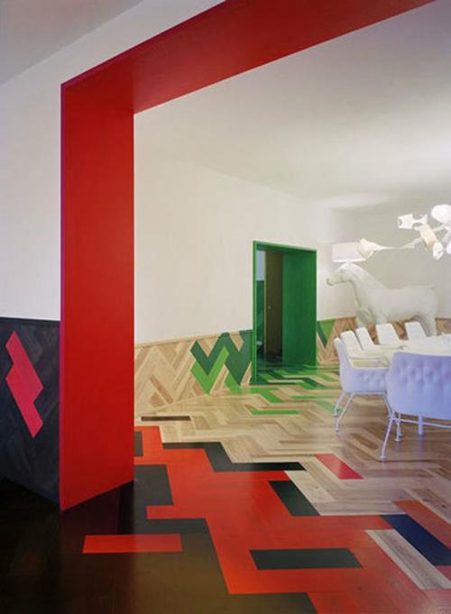 17 inspirierende Ideen für bemalten Fußboden