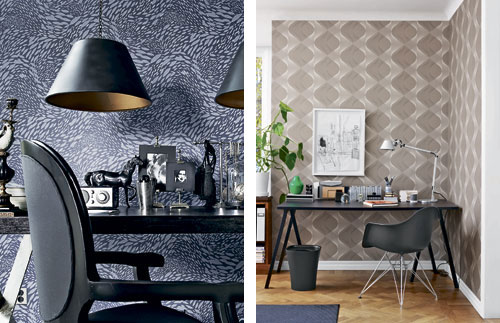 originell tapeten idee dekorative trend