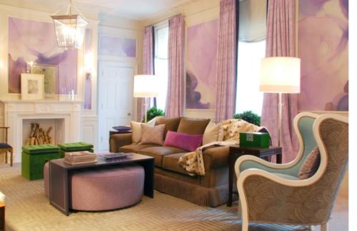 pastelltöne farbe lila klassisch design wohnbereich