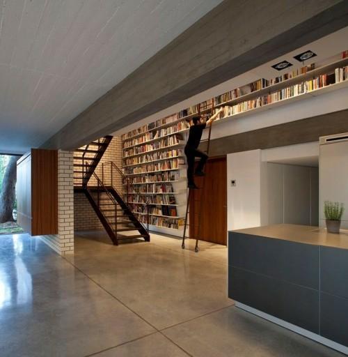 kreative ideen f r die perfekte einrichtung der hausbibliothek. Black Bedroom Furniture Sets. Home Design Ideas