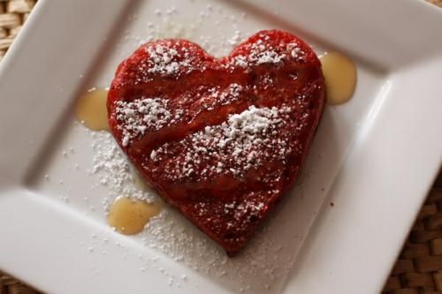 pfannkuchen honig valentinstag idee
