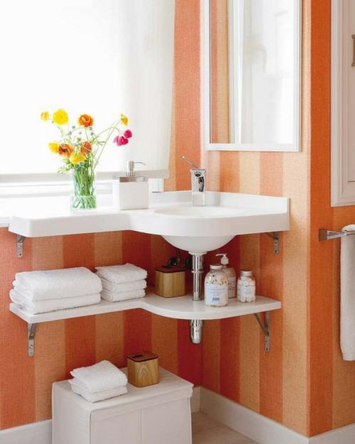 platte weiß waschbecken ordnung idee