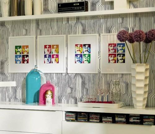 schrille Pop-Art Wanddeko Ideen bunt originell stilvoll