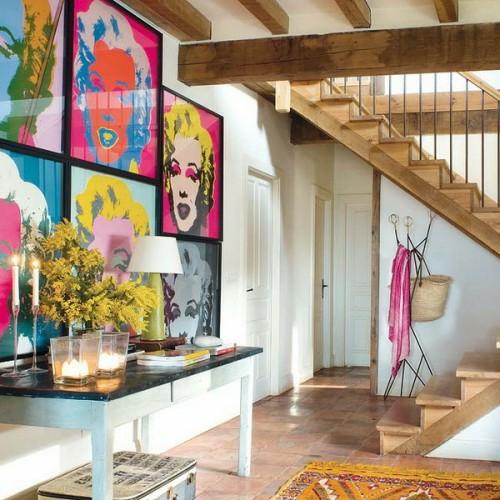 pop-art wanddeko ideen marilyn monrou