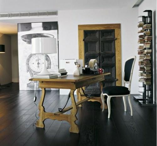 praktische schwarze innentüren schreibtisch arbeitsbüro