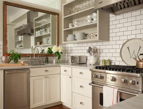 quadratisch spiegel idee küche design originell deko