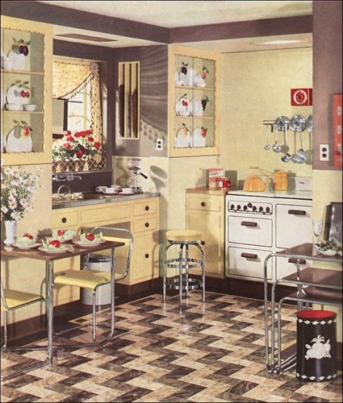 retro küchen designs essbereich einrichten