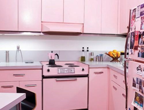 Küche Rosa retro küchen designs 17 einrichtungstipps und ideen