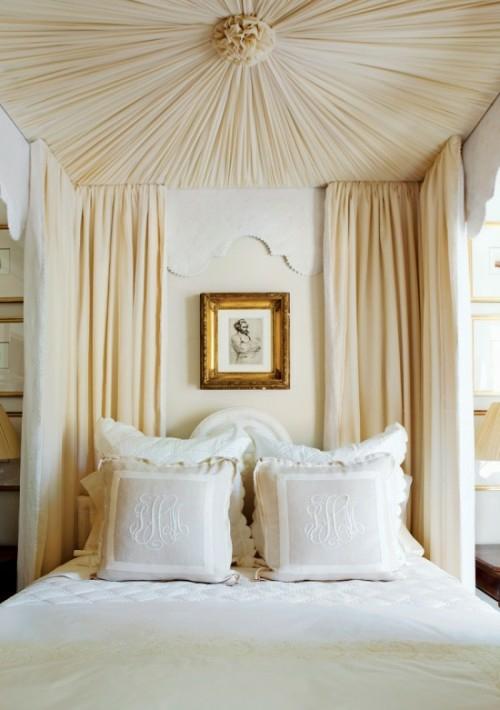 Himmelbett weiß romantisch  Himmelbett im Schlafzimmer - 23 stilvolle und extravagante Ideen