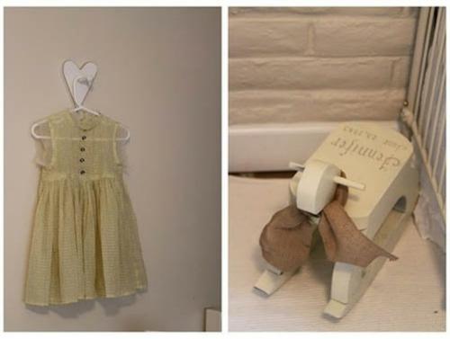 romantisches klassisches kinderzimmer kleiderbügel wand kleid
