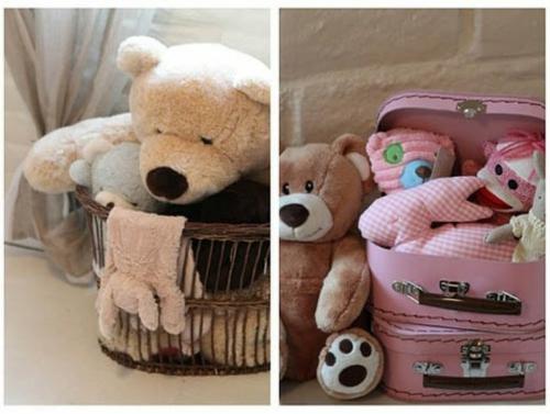 Romantisches, klassisches Kinderzimmer plüschtiere teddybär