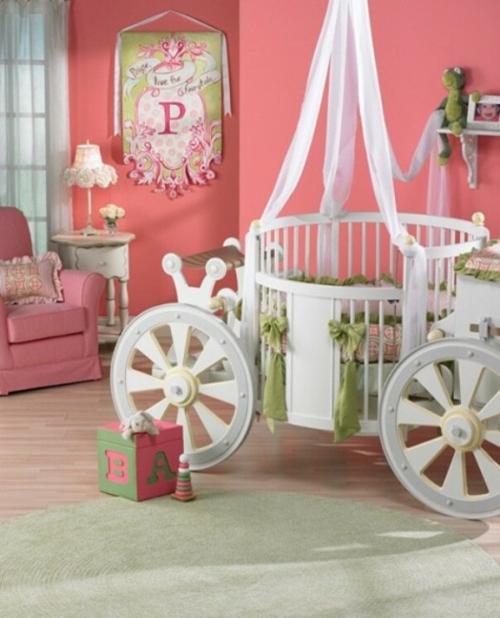 kutschenbett im kinderzimmer - 14 coole ideen für schicke ausstattung - Kinderzimmer Ideen Rosa