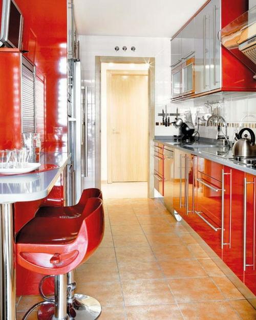 rot  kueche  frühstückentischkompakt design idee