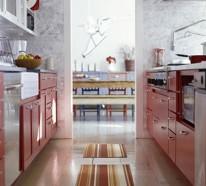 Praktische und schmale Küchen Interieurs
