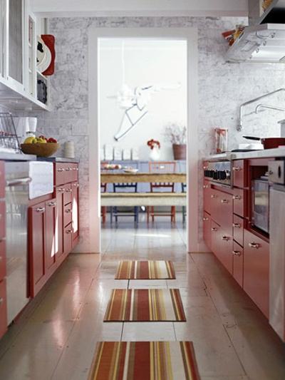 Great Praktische und schmale Küchen Interieurs - in Rot 400 x 533 · 143 kB · jpeg