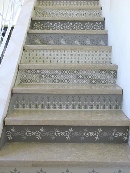 rustikale Stilvolle Treppendekoration Haus Eingang Garten