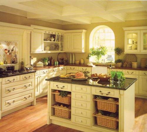 rustikale küche design kompakt schmal ordnung
