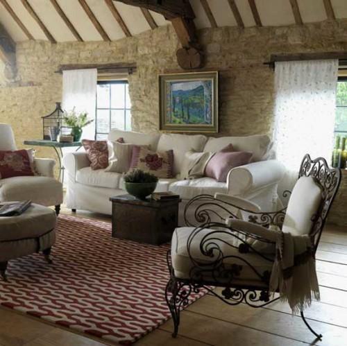 rustikale wohnzimmer design ideen bequem klassisch