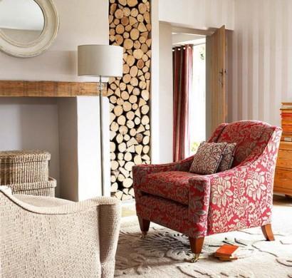 20 Rustikale Wohnzimmer Design Ideen