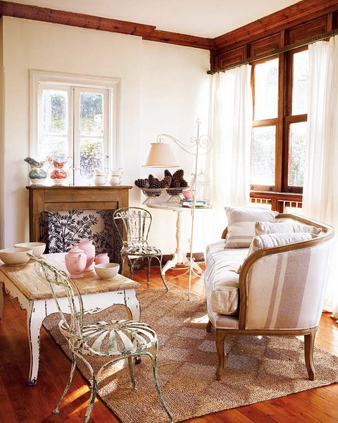 rustikale wohnzimmer design ideen metall holz altmodisch