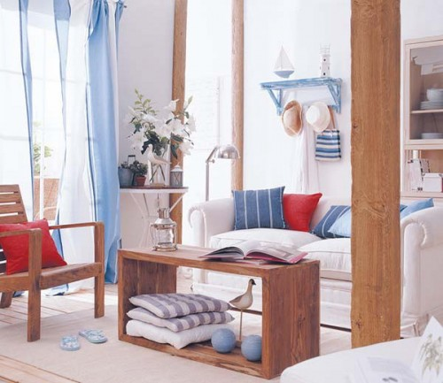 Wohnzimmer rot blau  20 rustikale Wohnzimmer Design Ideen - Tradition und Gemütlichkeit