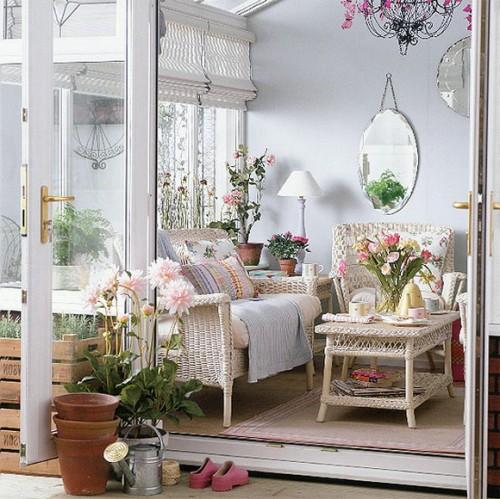 rustikales wohnzimmer ideen design hinterhof sonnenterrasse