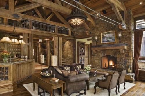 wohnzimmer deko rustikal 20 rustikale wohnzimmer design ideen tradition und gemtlichkeit - Holz Dekoration Wohnzimmer