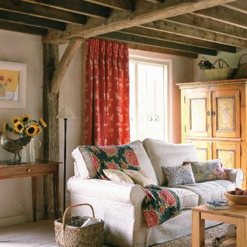 rustikales wohnzimmer ideen design komfortable