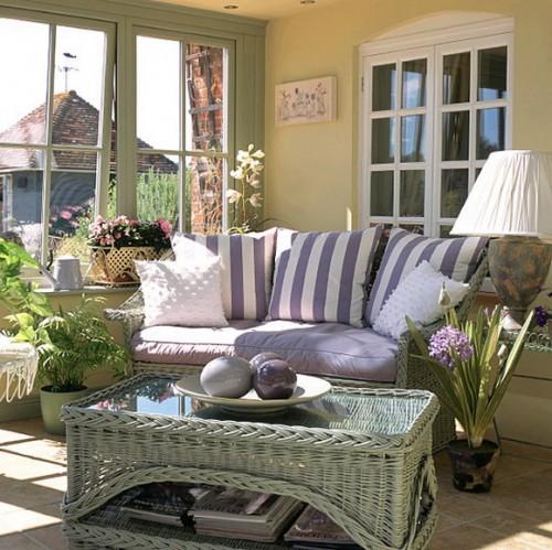 rustikales wohnzimmer ideen design sonne licht terrasse