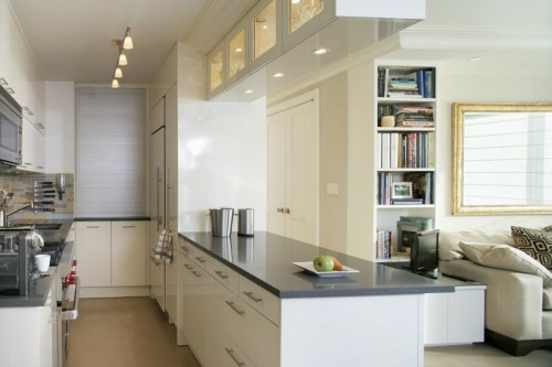 schicke design ideen kleine küche bequem