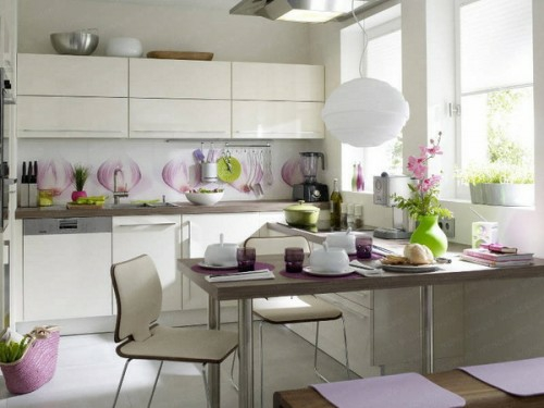 schicke design ideen kleine küche essbereich
