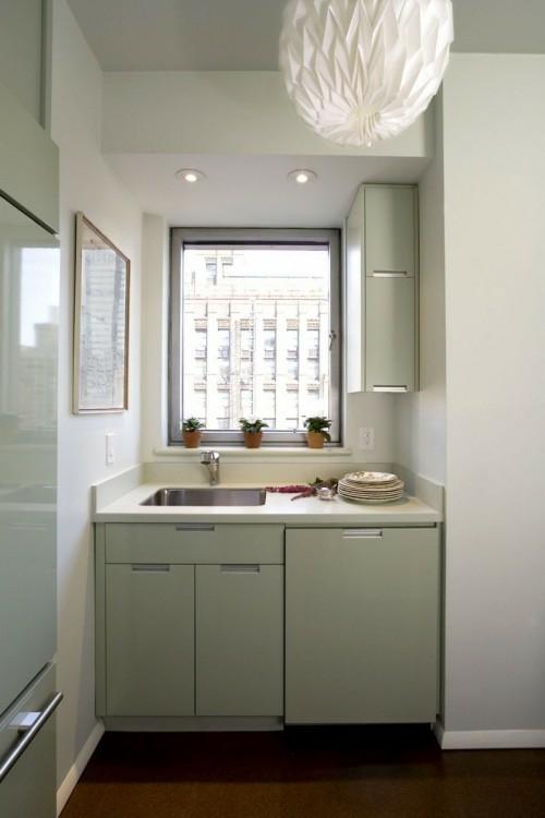 schicke design ideen kleine küche küchenschränke