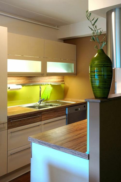 schicke design ideen kleine küche stilvoll