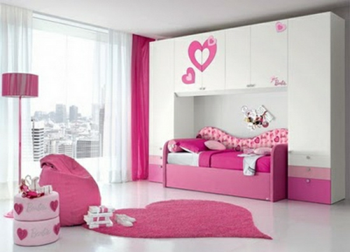 schlafzimmer design idee f r junge m dchen fr hlich und farbenreich. Black Bedroom Furniture Sets. Home Design Ideas