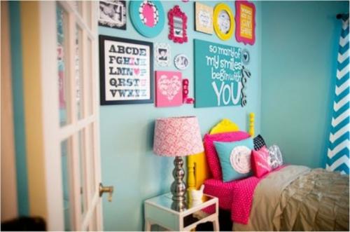 farbenreiche schlafzimmer design idee fr junge mdchen kinderzimmer interieur idee bunt originell farben bunt