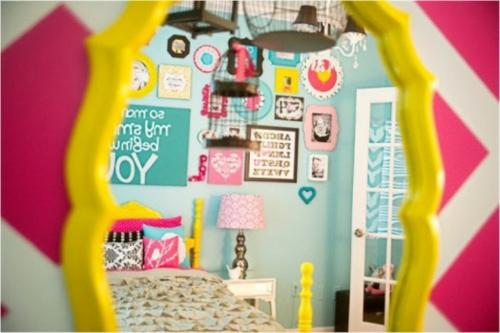 schlafzimmer design idee bunt originell farben toll