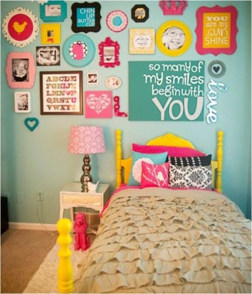 schlafzimmer design idee bunt originell farben
