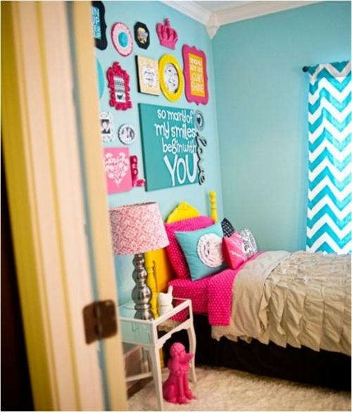 schlafzimmer design idee bunt originell tochter kinder