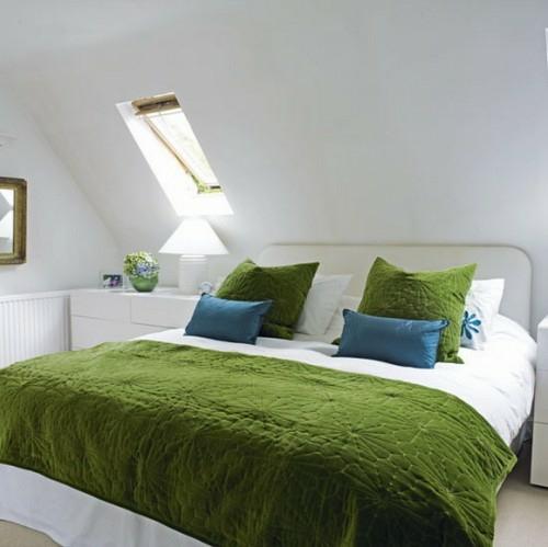 Wohnideen Schlafzimmer Grün 38 tolle und behagliche schlafzimmer im dachgeschoss praktische ideen