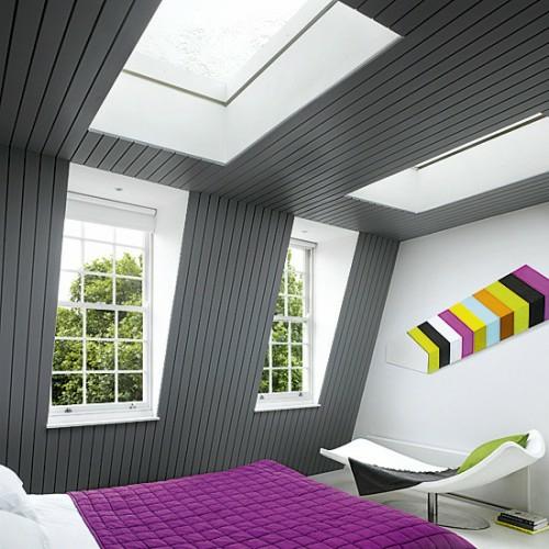 38 Tolle Und Behagliche Schlafzimmer Im Dachgeschoss -praktische Ideen Dachgeschoss Balken In Grau
