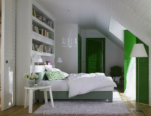 Tolle und behagliche schlafzimmer im dachgeschoss