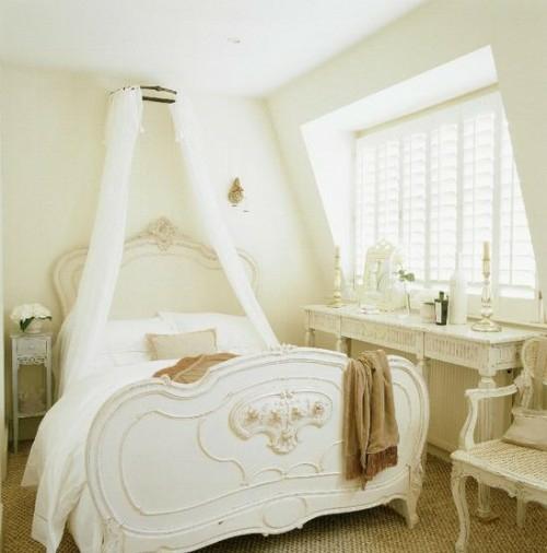 schneeweiß himmelbett schlafzimmer landhausstil klassisch französisch