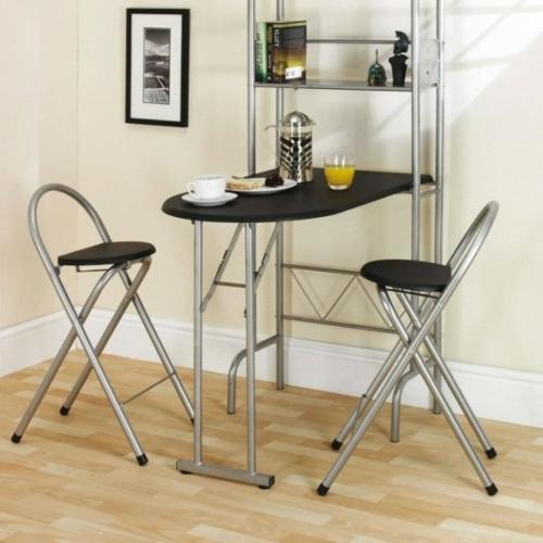schwarz farbe metall klapptisch küche praktisch idee