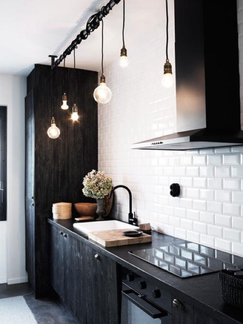 kleine Küchen Designs küchenmöbel  hängende beleuchtungskörper glanzvoll weiß