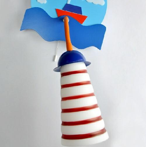 segelschiff idee streifen weiß rot Wandlampen im Kinderzimmer