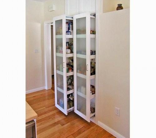 speisekammer einzelzimmer weiß küche idee