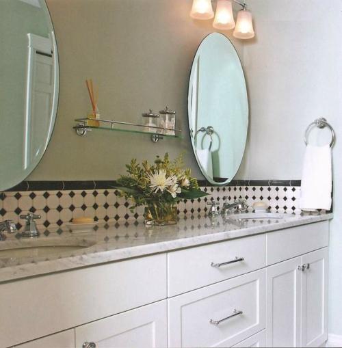 spiegel im küchenbereich altmodisch rund formen