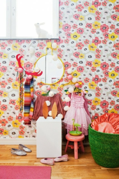 spielzimmer design ideen mädchen farbenfroh