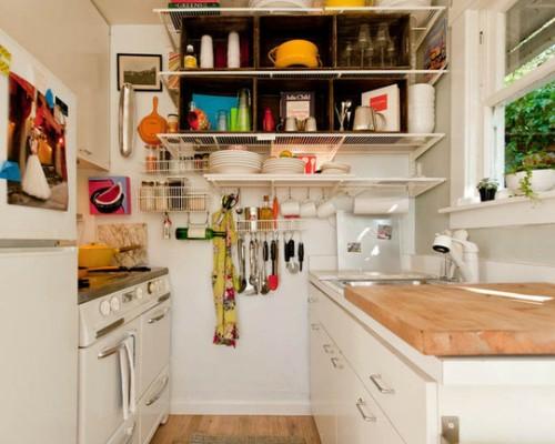 stauraum regale geschirr aufbewahren kleine küche
