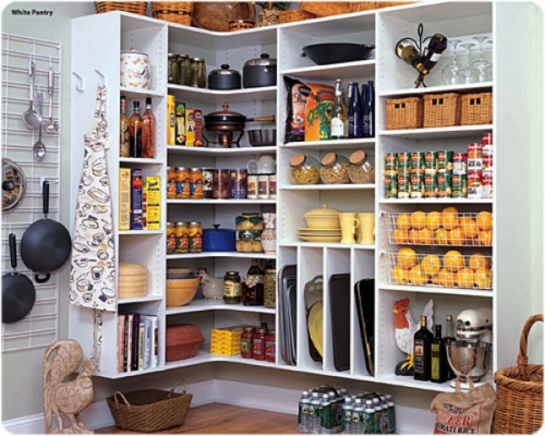 stilvoll speisekammer design idee küche weiß farben